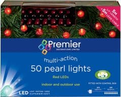 PREMIER LV161426R  50 Led Red Pearl Berry Lights